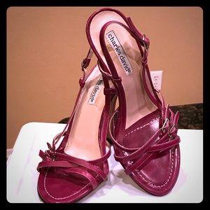 NWOT Beautiful purple Charles David strappy heels